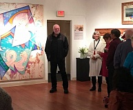 PHOTO COURTESY OF ARTS COUNCIL OF LAKE OSWEGO - Abstract illusionist George D. Green was the guest of honor last week at the opening of 'Visual Magic,' a major restropective of his work from the 1980s to today. Green's work has been featured in galleries and museums around the world.