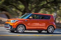 KIA MOTOR AMERICA - The boxy styling of the 2017 Kia Soul creates an enormous amout of interior room the compact wagon, including plenty of room for front and back seat passengers.