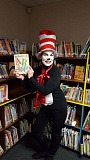 SUBMITTED PHOTOS - John Wetten Elementary Principal Wendy Wilson dresses as the Cat in the Hat for Everybody Reads Day.