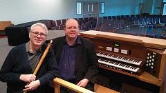 SUBMITTED PHOTO  - Aage Nielsen, left, and Christopher Wicks will present a concert of medieval to modern music at Emmanuel Presbyterian Church on March 26.