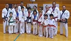 SUBMITTED PHOTO - Members of the Oregon Moo Duk Kwan martial arts school in Lake Oswego successfully competed in the recent Moo Duk Kwan Regional Championships in La Conner, Wash.