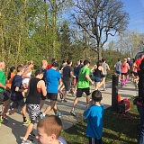 SUBMITTED PHOTO - Runners head off on the 5K course in last year's first Dogwood Dash. This year's run/walk will have an added 10K run.