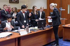 SUBMITTED PHOTO: COURTESY OF CLASSROOM LAW PROJECT - Lakeridge High School took second place in the state Mock Trial competition on Saturday in Portland.