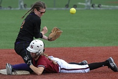 PAMPLIN MEDIA - Sandy and Hermiston clashed in a softball playoff game last spring and both recent 5A proposals call for those schools to play in the same league starting in 2018.