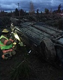 CCSO - A Woodburn man died Saturday night when his car rolled after crashing on Kropf Road near Molalla.