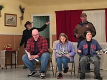 ESTACADA NEWS PHOTO: EMILY LINDSTRAND - In the Springwater Players production of 'Play On!' actors in the fictional play-within-a-play are indignant that the playwright is making changes to their script just days before the play is scheduled to open.