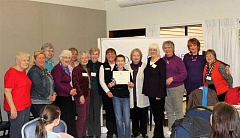 COURTESY OF CHAMPOEG CHAPTER OF DAR - Bryon Long, holding certificate, was one of the winners of this years American History contest, sponsored locally by the Champoeg Chapter of the Daughters of the American Revolution. Other winners included Allison and Luke Van Sickle, not pictured.