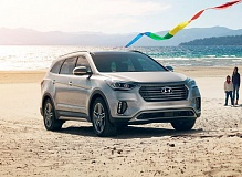 HYUNDAI MOTOR AMERICA - The 2017 Hyundai Santa Fe is a sharply styled Crossover Utiliity Vehicle with three rows of seats that can be configured for six or seven passengers.
