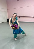 SUBMITTED PHOTO - Helia Megowan rehearsing Nikiya solo from La Bayadere for Northwest Dance Theatres A Festival of Dance April 8 and 9.