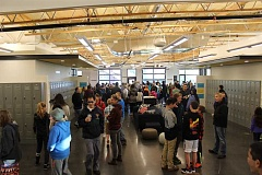 SPOKESMAN PHOTO: ANDREW KILSTROM - Three Rivers Charter School finally opened Monday, April 3 after years of planning. Students and their families got the chance to explore their new school before classes started.